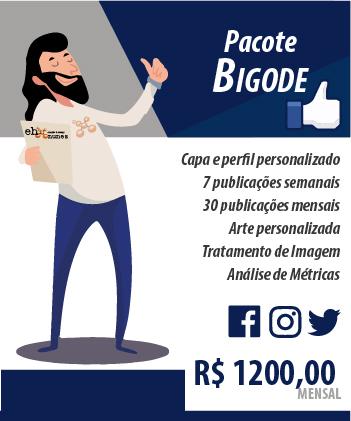 Pacote Redes Sociais - Bigode - Ehnunes Criação & Design
